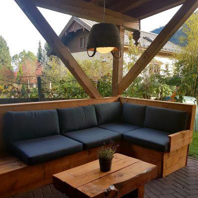 loungebank onder carpoort