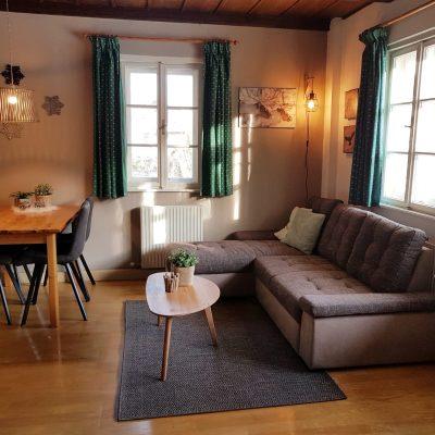 Smaragd woonkamer
