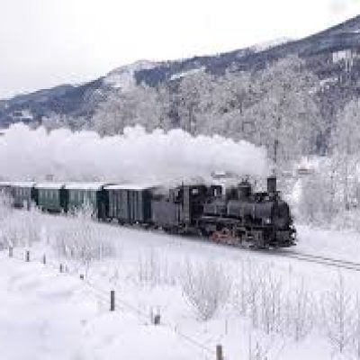 stoomtrein Zell am See-Krimml in de winter